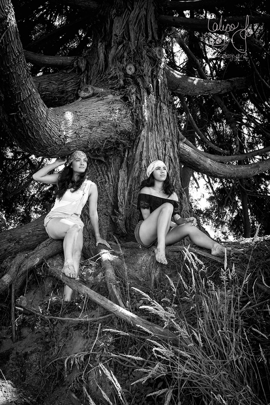 black and white portrait, friendship, summer